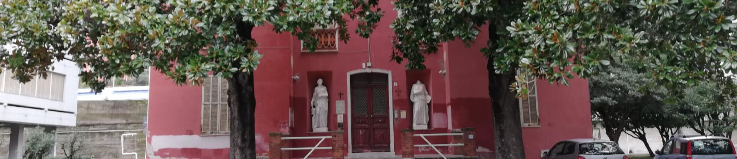Esterno della biblioteca, Villa Nasturzio