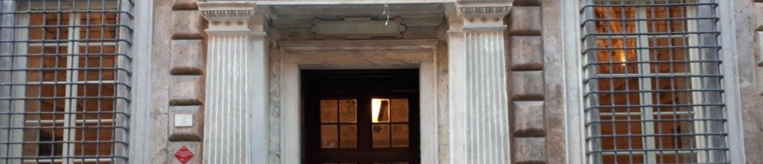 Ingresso del Palazzo della Camera di Commercio di Genova