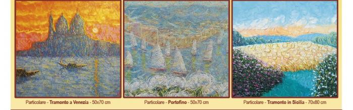 Locandina mostra pittura di Roberto Masia