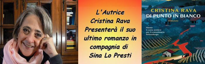"""Locandina incontro con Cristina Rava - """"Di punto in bianco"""""""