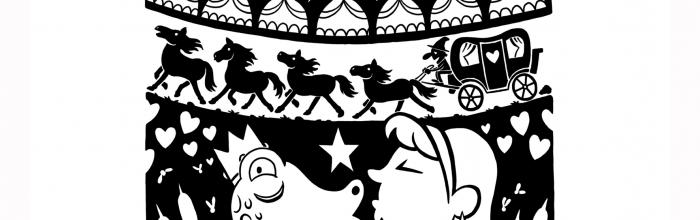 """Illustrazione di Enrico Macchiavello, fiaba """"Il principe Mirtillo e la volta che non fu"""" di Andrea Valente"""