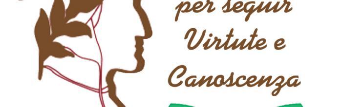 """Logo progetto """"Amor... per seguir Virtute e Canoscenza"""""""
