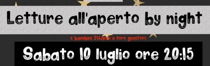 NpL Liguria - sabato 10 luglio - San Cipriano di Serra Riccò: LETTURE ALL'APERTO BY NIGHT