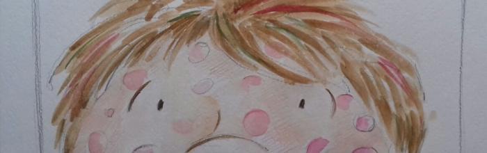 """Fiaba """"Il ragno e la farfalla""""- Bozzetto di Fiamma Capitelli - Illustrazione tav. 2"""