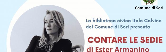 CONTARE LE SEDIE: Presentazione del libro di Ester Armanino - SORI, sabato 22 maggio ore 10.30