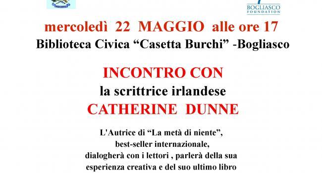Locandina incontro con Catherine Dunne