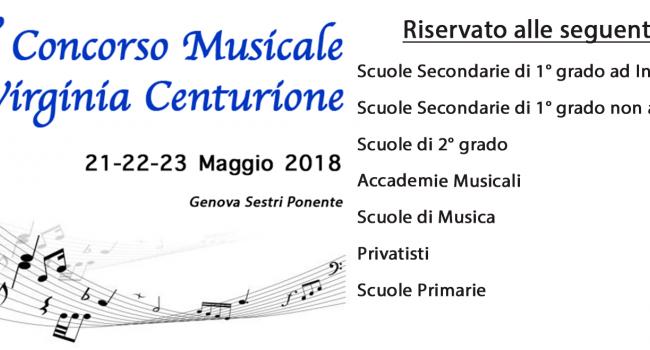 Gli studenti del liceo musicale Pertini vincitori al 7° Concorso nazionale Virginia Centurione di Genova Sestri Ponente