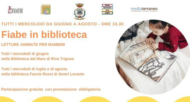 LETTURE ESTIVE PER BAMBINI, Sistema Bibliotecario Urbano di Sestri Levante, giugno/agosto 2021
