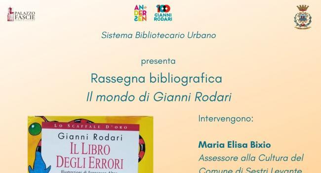 """Locandina rassegna bibliografica """"Il mondo di Gianni Rodari"""""""