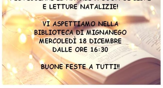 Locandina iniziativa - NATALE IN BIBLIOTECA A MIGNANEGO
