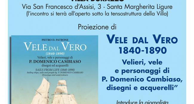 """Locandina presentazione libro """"Vele dal Vero"""""""