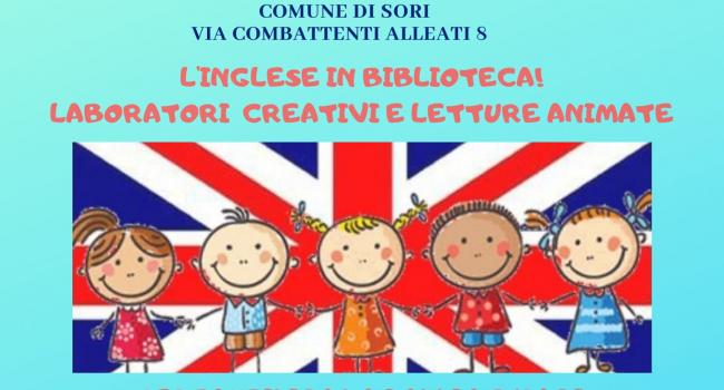 Locandina iniziativa - SORI, Biblioteca civica - INGLESE IN BIBLIOTECA! - Incontri per bambini