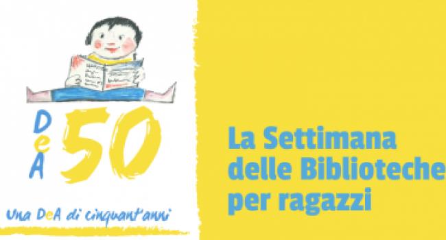 """SETTIMANA BIBLIOTECHE RAGAZZI 11/ 16 ottobre 2021  per i 50 anni della Biblioteca """"De Amicis"""" di Genova: incontri, laboratori, approfondimenti e un Convegno nazionale"""