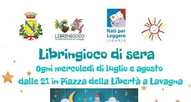 """Locandina - LAVAGNA, Piazza della Libertà: I mercoledì sera della ludobiblioteca """"LIBRINGIOCO"""" - 7 luglio/25 agosto ore 21.00"""