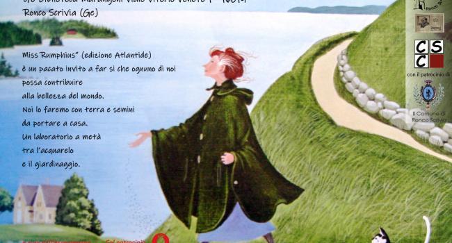 Cartolina iniziativa - MISS RUMPHIUS di Barbara Cooney