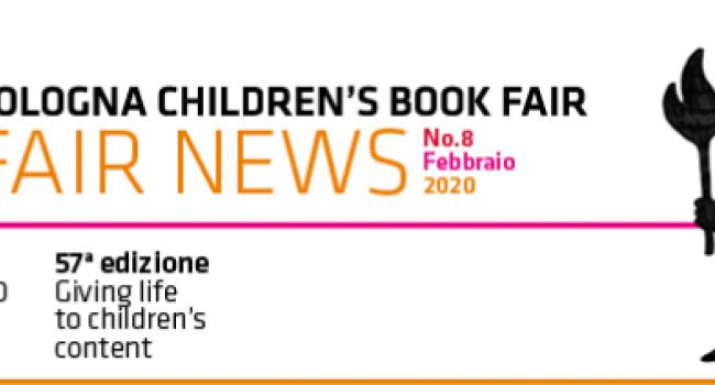 Testata Logo Notiziario  FAIR NEWS (57. edizione Bologna Children's Book Fair)