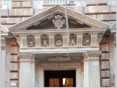 Ingresso del Palazzo della Camera di Commercio di Genova, particolare