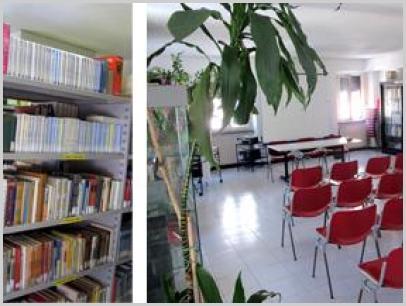 Particolare interno biblioteca e Sala delle ardesie - Sezione Liguria