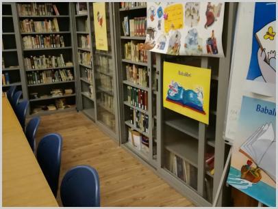 Immagine interno biblioteca, Angolo Nati per Leggere