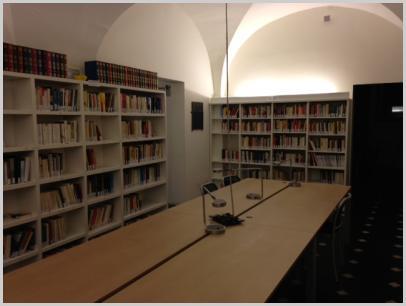 Interno Biblioteca soffitto a volta