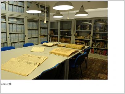 Sala consultazione manoscritti