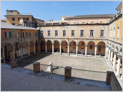 Immagine relativa al Liceo Colombo- chiostro dall'alto