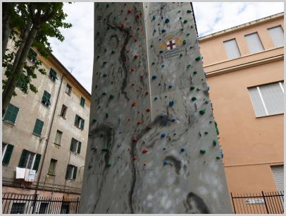 Immagine relativa a Liceo L. Lanfranconi - parete arrampicata 2