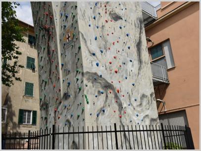 Immagine relativa a Liceo L. Lanfranconi - parete arrampicata 4